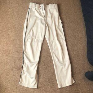 White men's baseball pants